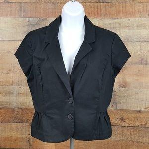 Express Design Studio Women's 2 Button Blazer Blac